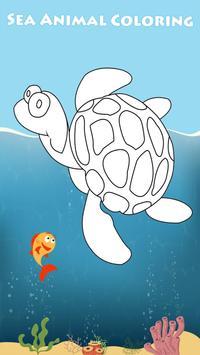 Ocean Animals Octo Coloring poster