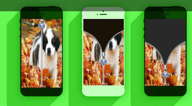 Puppy Zipper Lock Screen 2016 apk screenshot