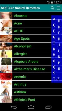 Self Cure home remedies for disease and illness poster
