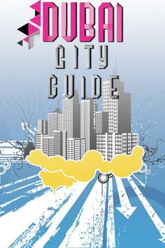Dubai city tourist guide free poster