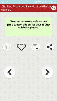 Citations: Travail Acharné poster