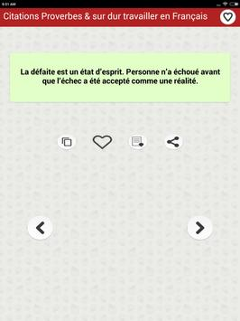 Citations: Travail Acharné screenshot 12