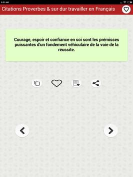 Citations: Travail Acharné screenshot 13