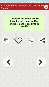 Citations: Travail Acharné screenshot 4