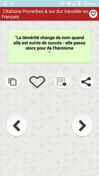 Citations: Travail Acharné screenshot 5