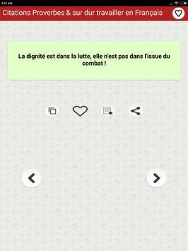 Citations: Travail Acharné screenshot 8