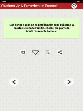 Vie des Citations et Proverbes screenshot 14