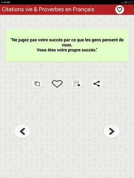 Vie des Citations et Proverbes screenshot 16