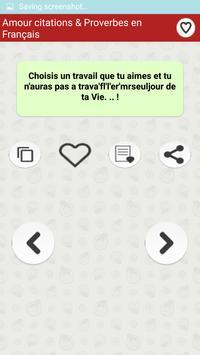 Amour citations & Proverbes screenshot 5