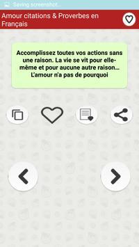 Amour citations & Proverbes screenshot 6