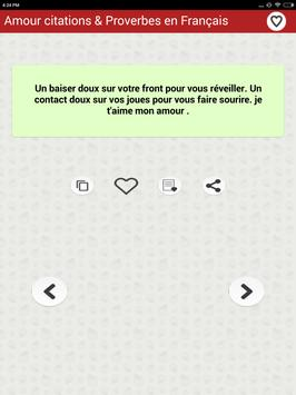 Amour citations & Proverbes screenshot 8