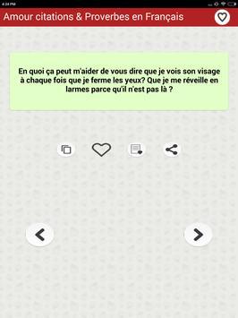 Amour citations & Proverbes screenshot 9
