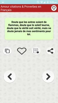 Amour citations & Proverbes poster