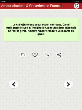 Amour citations & Proverbes screenshot 14