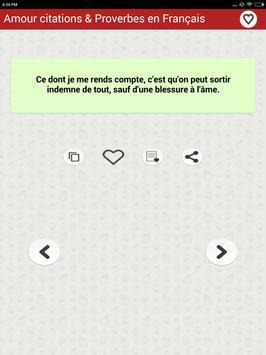 Amour citations & Proverbes screenshot 15