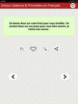 Amour citations & Proverbes screenshot 16