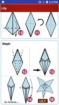 Paper art Origami Making steps: Medium Difficulty poster