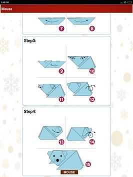 Paper art Origami Making steps: Medium Difficulty screenshot 14