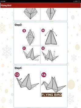 Paper art Origami Making steps: Medium Difficulty screenshot 10