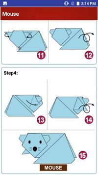 Paper art Origami Making steps: Medium Difficulty screenshot 1