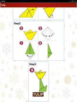 Paper art Origami Making steps: Medium Difficulty screenshot 21