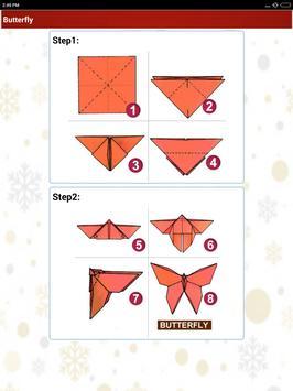 Paper art Origami Making steps: Medium Difficulty screenshot 22