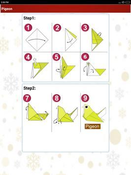 Paper art Origami Making steps: Medium Difficulty apk screenshot