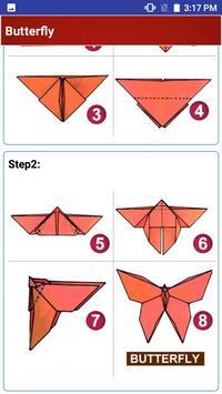 Paper art Origami Making steps: Medium Difficulty screenshot 3
