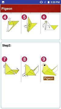 Paper art Origami Making steps: Medium Difficulty screenshot 4