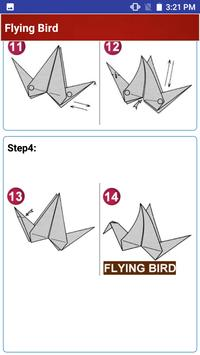 Paper art Origami Making steps: Medium Difficulty screenshot 6