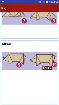 Paper art Origami Making steps: Medium Difficulty screenshot 7