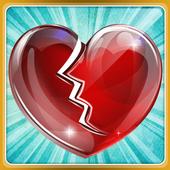 Citações de amor coração quebradas em Português icon