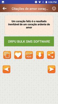 Citações de amor coração quebradas em Português screenshot 5