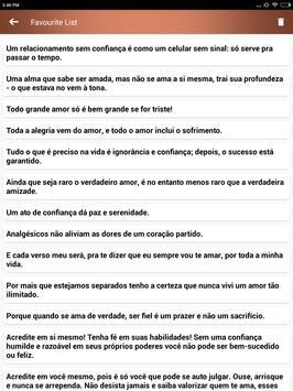 Citações de amor coração quebradas em Português apk screenshot