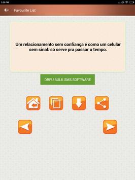 Citações de amor coração quebradas em Português screenshot 13
