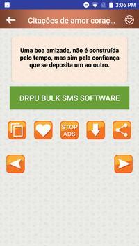 Citações de amor coração quebradas em Português screenshot 3