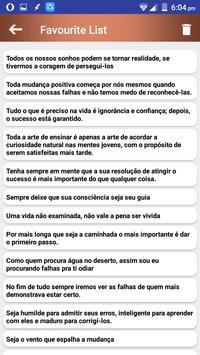 Citações e Frases inspiradoras em português screenshot 1
