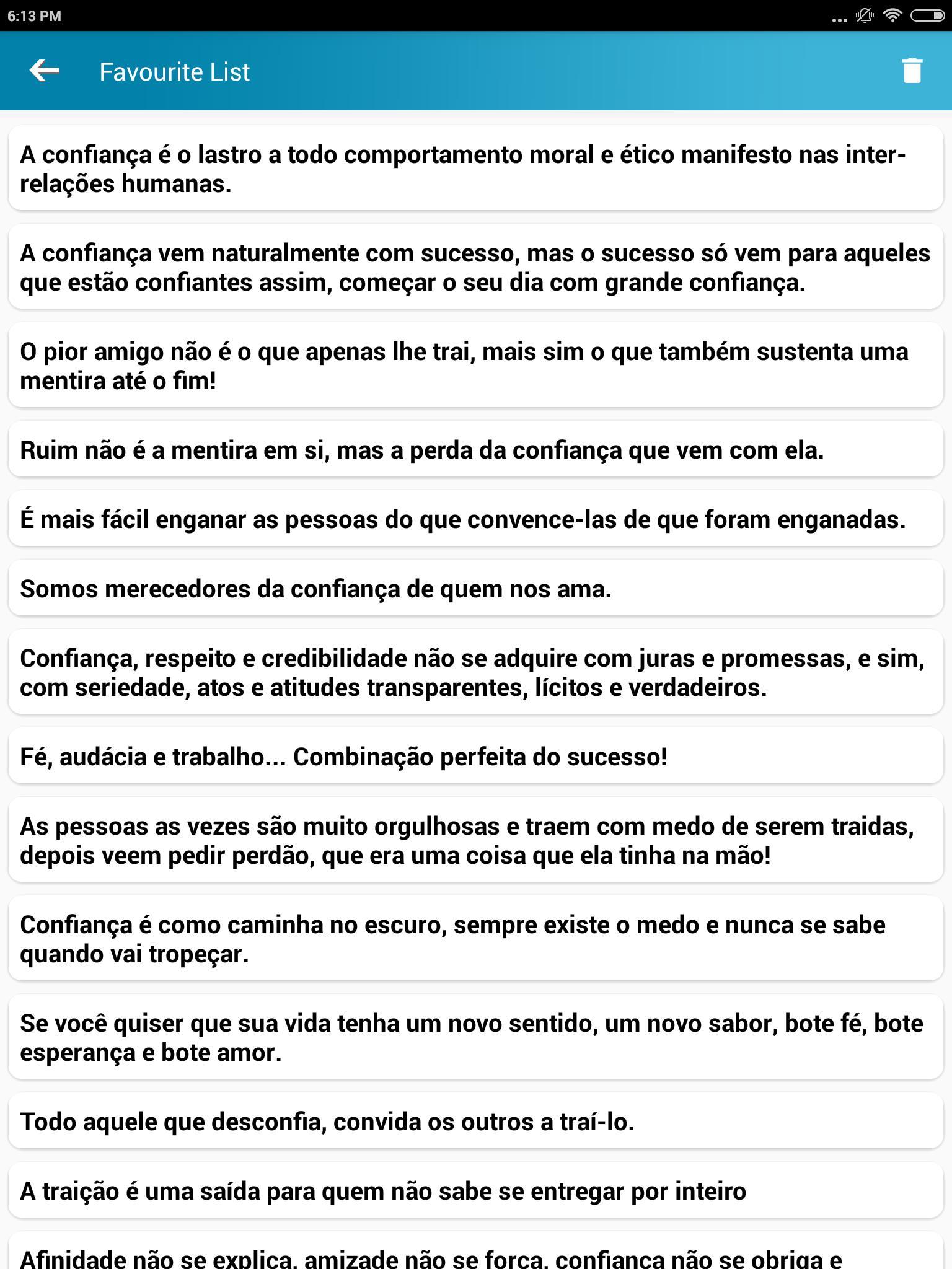 Cita§µes portuguesas sobre confian§a e fé for Android APK