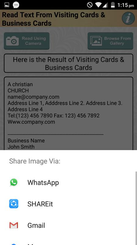 Ocr app to read business card visiting cards text for android apk ocr app to read business card visiting cards text 4 reheart Gallery