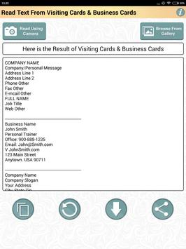 Ocr app to read business card visiting cards text for android apk ocr app to read business card visiting cards text screenshot 10 reheart Choice Image