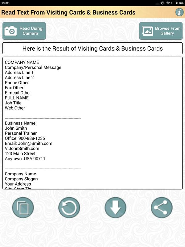 Ocr app to read business card visiting cards text for android apk ocr app to read business card visiting cards text screenshot 10 colourmoves Images