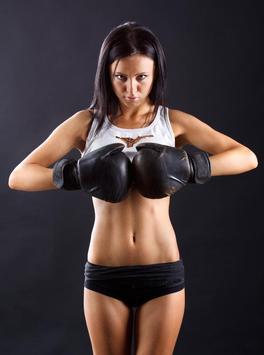 Sexy Sport Brunette Woman poster