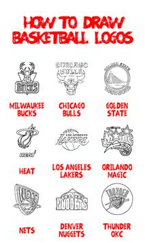 How to Draw : Basketball Logos poster