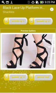 Black Lace Up Platform Heels screenshot 3