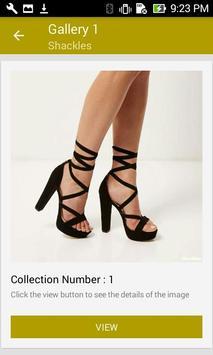 Black Lace Up Platform Heels screenshot 4