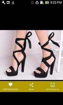 Black Lace Up Platform Heels screenshot 8