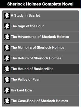 Sherlock Holmes Complete Novel poster