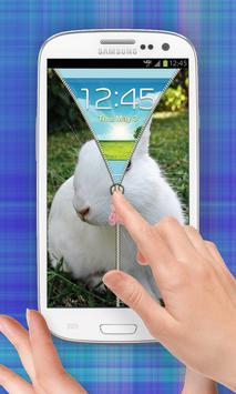 Cute  Bunny Zip Unlock apk screenshot