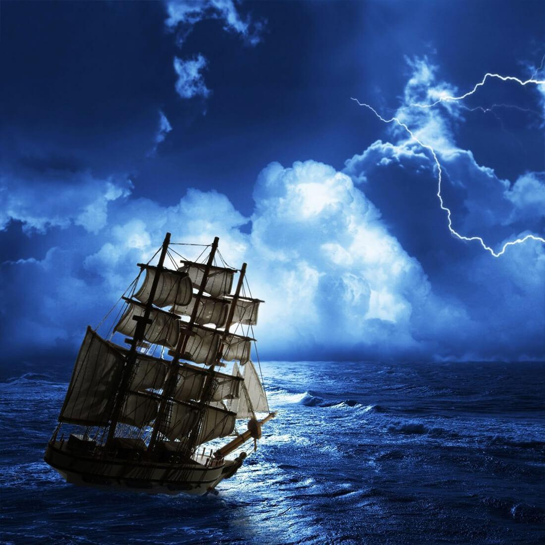 Gambar Animasi Kapal Laut