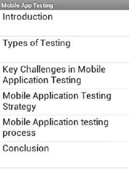 Mobile App Testing apk screenshot